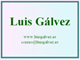 Luis Glvez, luisgalvez